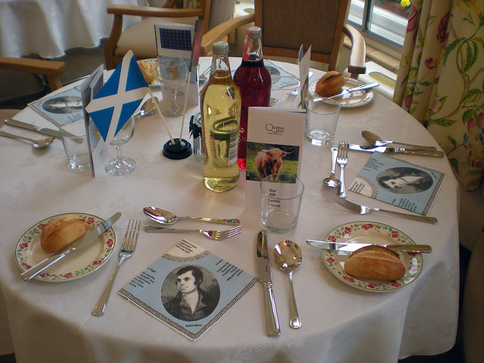 Themed Evening Meal - Scotland